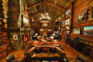 log cabin homes interior historic waggoner ranch
