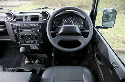 land rover defender   interior autocar