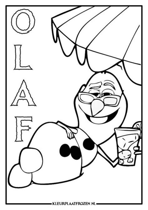 Parasol Kleurplaat by Olaf Frozen Kleurplaat Gratis Downloaden Kleurplaat Frozen