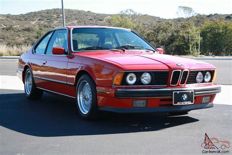 1989 Bmw 635csi E24 Coupe