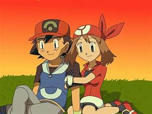 Ash and May | Pokémon Amino