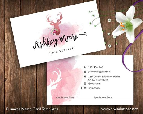 house template for photo card 14 appointment card designs design trends premium psd