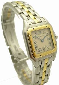 Cartier PANTHRE SteelGold Quartz Ladies EBay