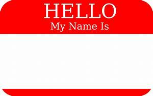 Clipart - Hello My Name Is