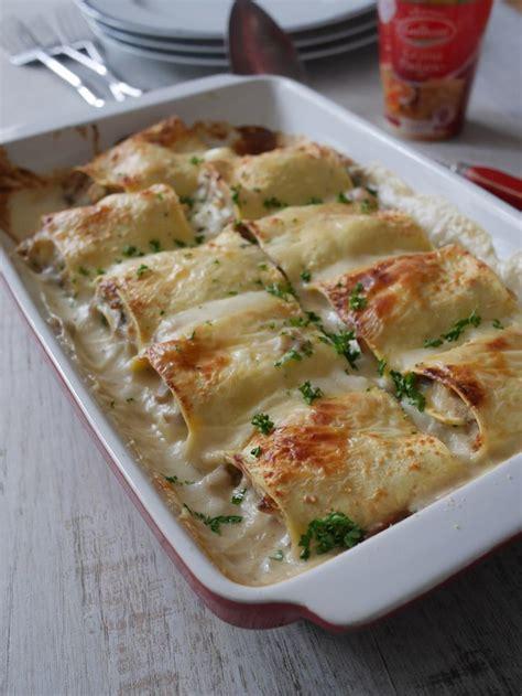 recette de cuisine originale et inventive lasagnes roulées au jambon et chignons de