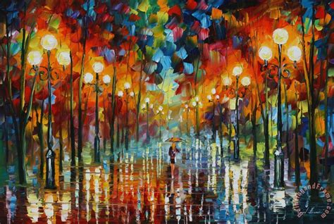 Leonid Afremov A Date With The Rain Painting  A Date With