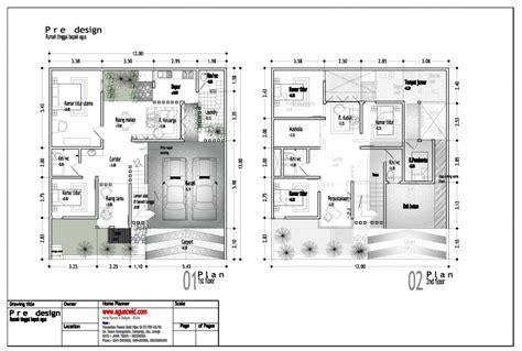 desain rumah sederhana  lantai  kamar tidur informasi