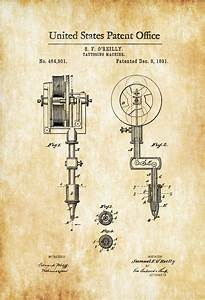 First Tattoo Machine Patent 1891 Tattoo Gun Patent