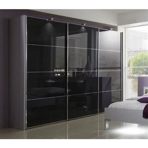 Big Wardrobe by Maxx Black Glass Wardrobe Rs 1500 Square Artures