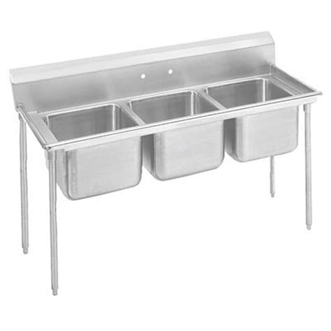 advance tabco sink legs advance tabco t9 3 54 x 3 compartment sink 18 16 quot x20