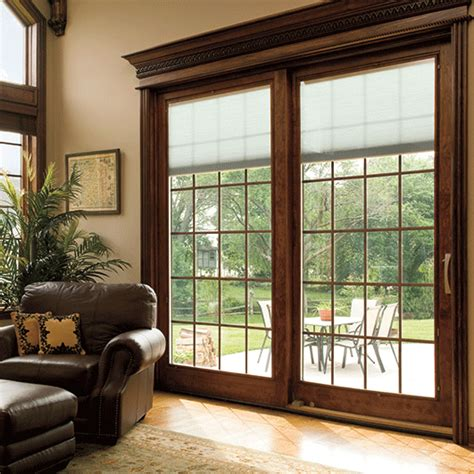 who makes the best patio doors pict designer series sliding patio doors with built in blinds