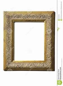 Old gold square Frame stock image. Image of object, frame ...