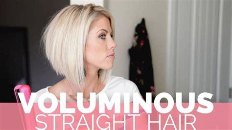 volume  thinner straight hair  heck  girl short