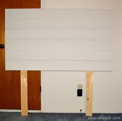 headboard wooden planks diy  style