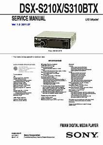 Sony Dsx-s210x  Dsx-s310btx Service Manual