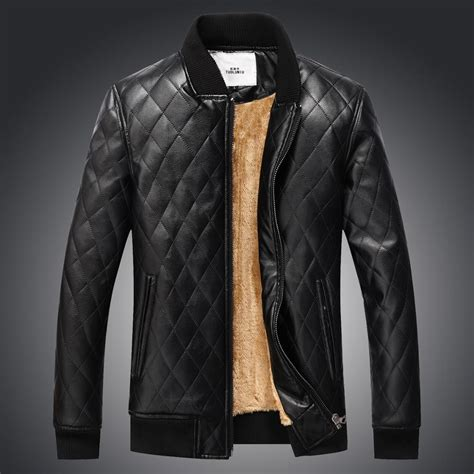 mens casual pu leather jacket men motorcycle