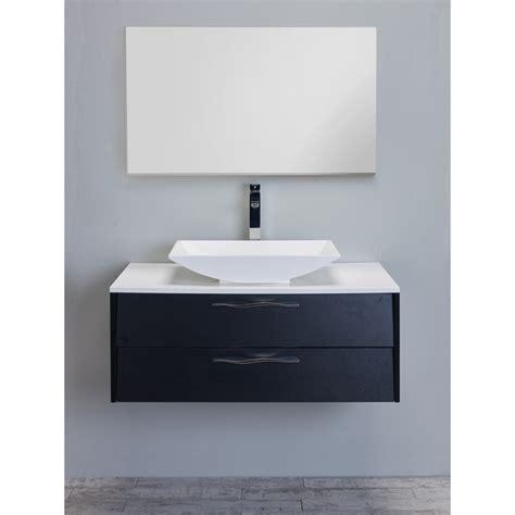 modern 39 inch black wood modern bathroom vanity set with