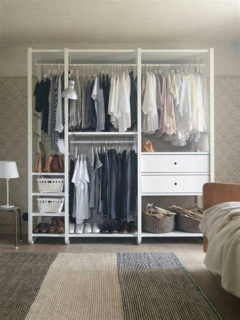 standing closet bedroom storage closet design