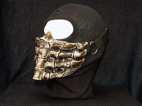 Mortal Kombat Scorpion V1. Dark Airsoft Cosplay Mask Made To