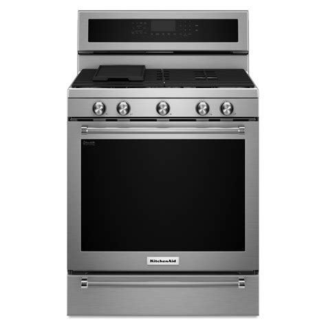 Kitchen Aid Gas Range by Kitchenaid Kfgs530ess 5 8 Cu Ft Gas Freestanding