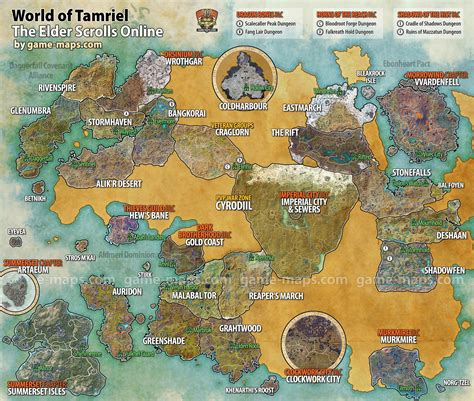 The Rift Skyshards Location Map Eso Game Maps