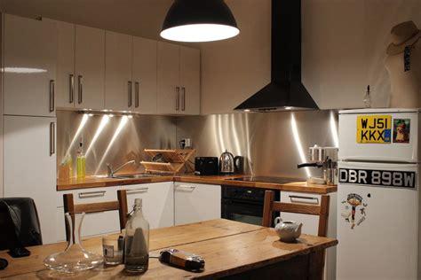 inox pour cuisine cuisine avec credence inox 28 images credence inox pas