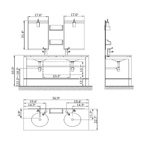 standard double sink size great bathroom vanity dimensions standard outstanding