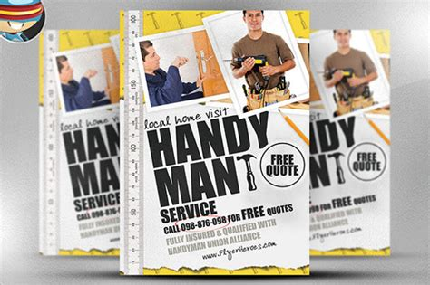 beautiful handyman flyer templates sample templates