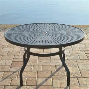 backyard creations 174 sanibel 48 quot dining table at menards 174