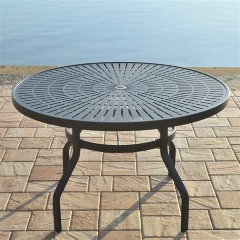 backyard creations 174 sanibel 48 quot dining table at menards 174