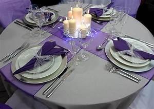 Set De Table Argenté : d co de table pour noel violet d cor de no l blog boutique magique ~ Teatrodelosmanantiales.com Idées de Décoration