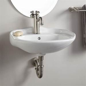 Victorian mini porcelain wall mount sink wall mount for How to install wall mounted sink