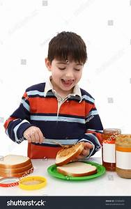 Hungry Little Boy Making His Own Stock Photo 23500459 ...