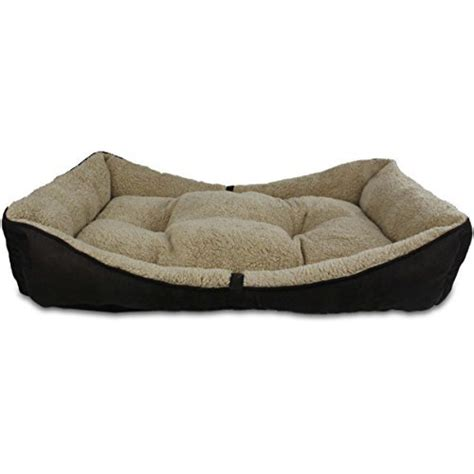 Bolster Bed by All For Paws Lambswool Bolster Bed Small Kohepets