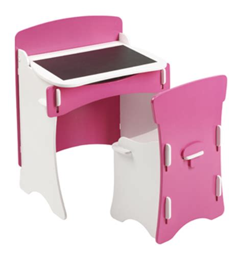 blush desk and chair set bright pink and white