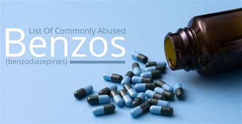 list    commonly abused benzodiazepines