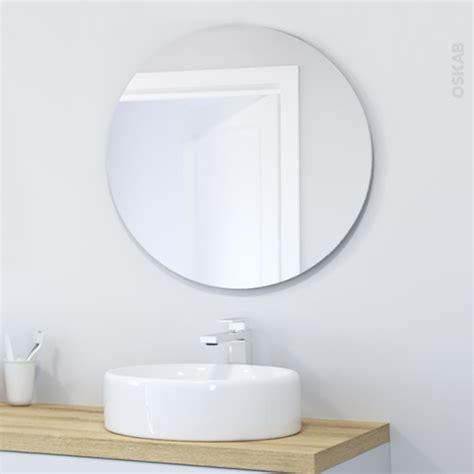 miroir de salle de bains simple miral diam 232 tre 80 cm oskab