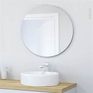 Miroir Rond Salle De Bain : miroir de salle de bains simple miral diam tre 80 cm oskab ~ Nature-et-papiers.com Idées de Décoration