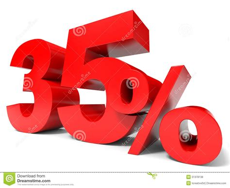 Red Thirty Five Percent Off Discount 35% Stock