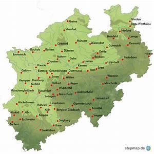 Nord Rhein Westfalen : nordrhein westfalen von shorn landkarte f r nordrhein westfalen ~ Buech-reservation.com Haus und Dekorationen