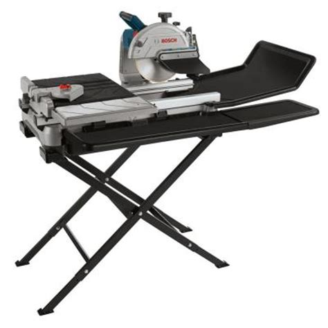 10 Inch Tile Saw Home Depot by Bosch 10 In Tile And Saw With Folding Stand