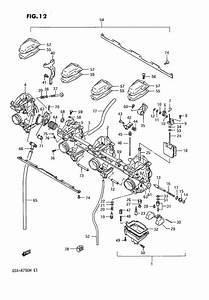 Carburetor - Engine - Gsx-r750f To H - Vintage