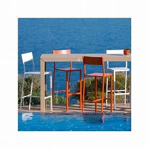 Chaise De Bar Grise : chaise bar mati re grise ~ Voncanada.com Idées de Décoration
