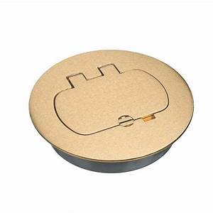Round Brass Floor Box Cover Kit  Gfci  Case Of 3