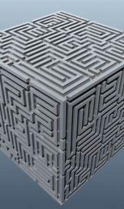 maze cube 3d max