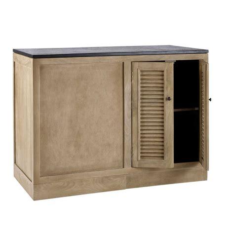 meuble bas d 39 angle de cuisine en manguier l 120 cm