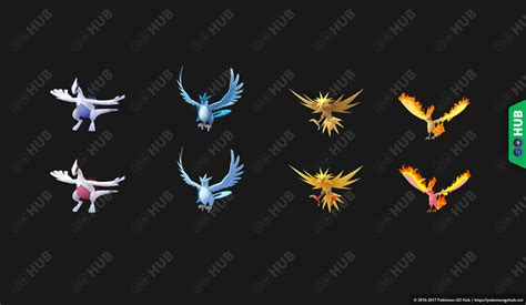 shiny legendary birds and lugia appear in the 0 69 0