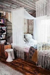 Vorhang Für Bett : sch nes bett gestalten 40 tolle ideen ~ Sanjose-hotels-ca.com Haus und Dekorationen