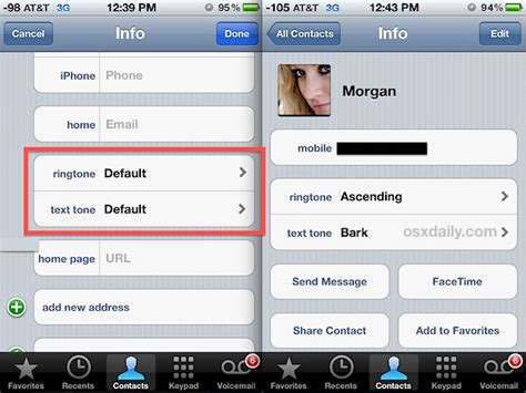 how to set ringtone on iphone assign unique ringtones to contacts on iphone to who