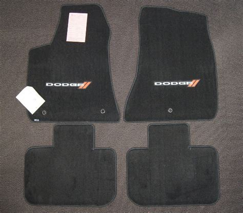 dodge charger floor mat set pcs  black